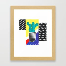 Funky Fun Cactus Art Framed Art Print