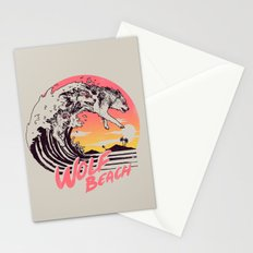Wolf Beach Stationery Cards
