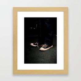 Toe Tappin' Chucks Framed Art Print