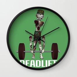 Crossfit Zombie by RonkyTonk doing Deadlift Wall Clock