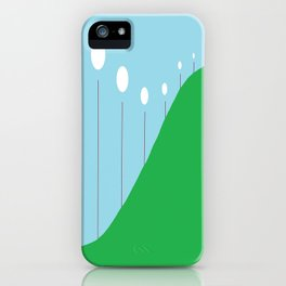Abstract Landscape - Lights on the Hill iPhone Case