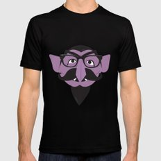 Hipster Count Black Mens Fitted Tee MEDIUM