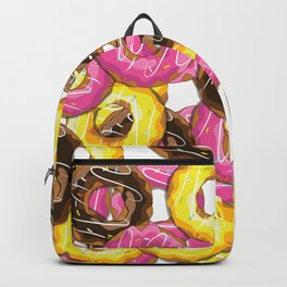 Delicious donut pattern Backpack