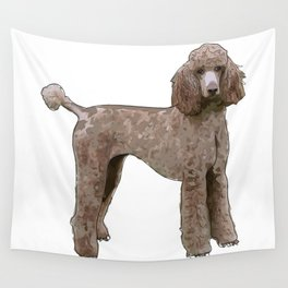 Elegant Poodle Wall Tapestry