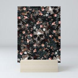 Skull and Floral pattern Mini Art Print
