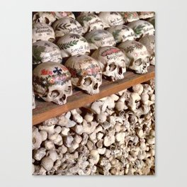 """Hallstatt, Austria Beinhaus """"Bone House"""" Canvas Print"""