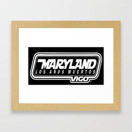 MarylandVigo Maryland - Los Años Muertos Framed Art Print