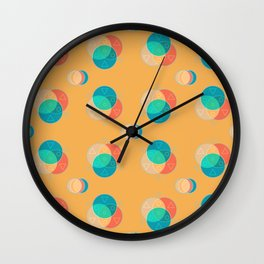 Cute Color Wheel Seamless Pattern Wall Clock