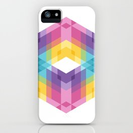 Fig. 019 Colorful Geometric Shapes iPhone Case