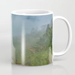 Misty View of Longj Rice Terraces Coffee Mug