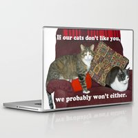 meme Laptop & iPad Skins featuring Cat Meme by Frankie Cat