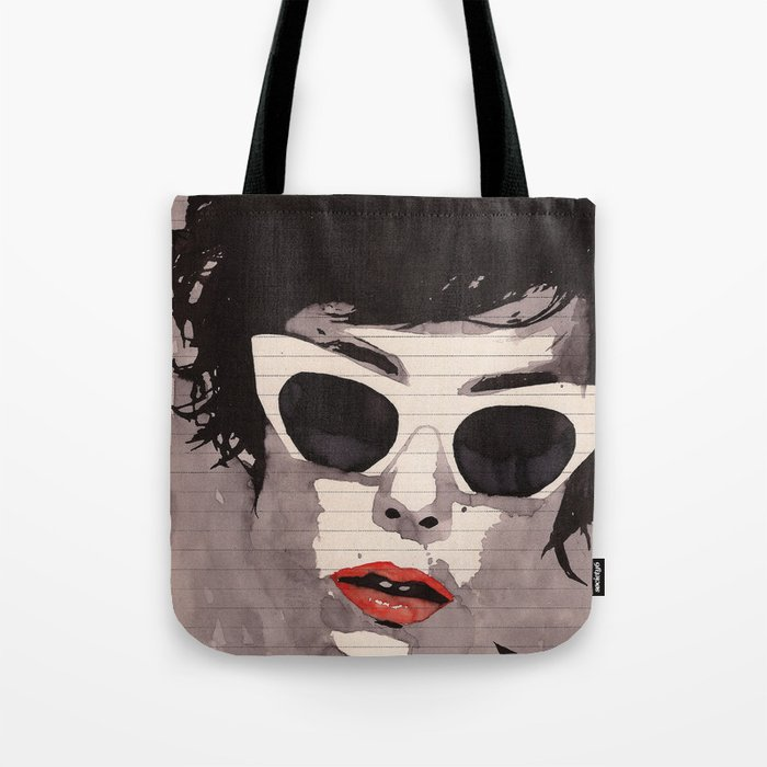 Cleverly - Feminine portrait ink drawing Tote Bag