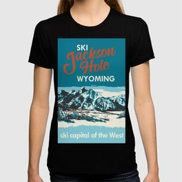 Ski Jackson Hole Wyoming Vintage Ski Poster T-shirt