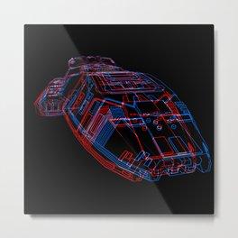 Classic Galactica 3D Metal Print
