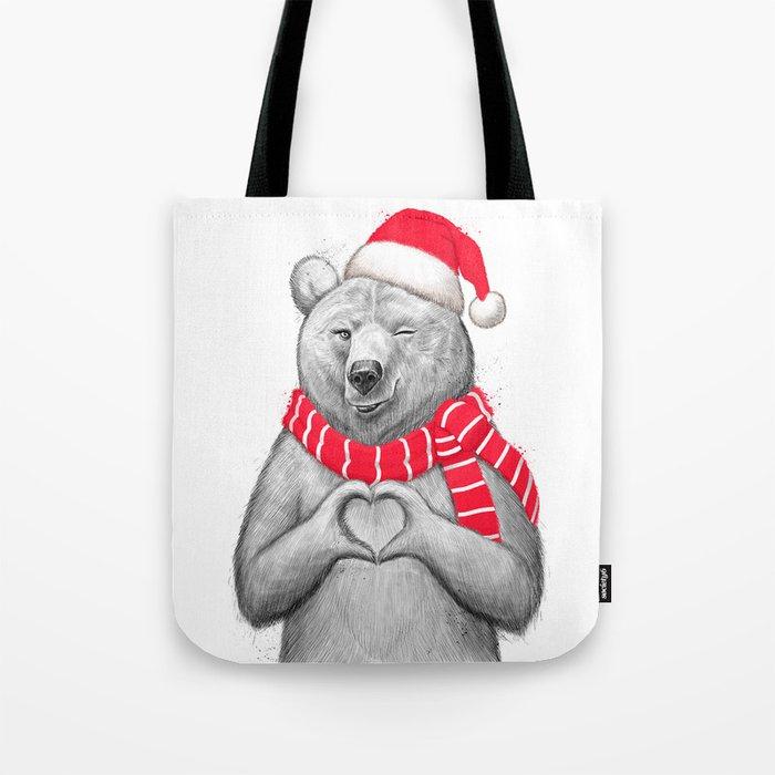 christmas bear #2 Tote Bag