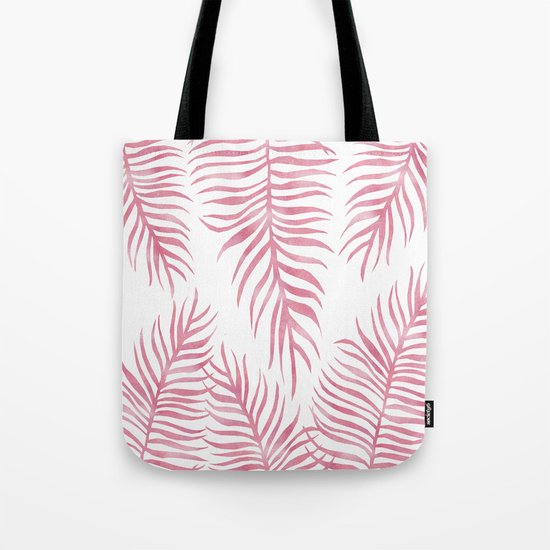 Fern Pattern Pink Tote Bag