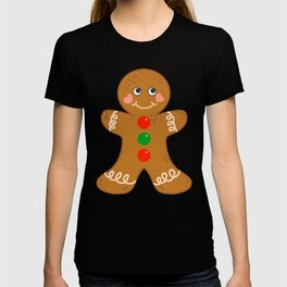 Holiday Gingerbread Man Christmas Cookie Baking Love T-shirt