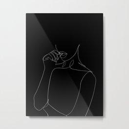 minimal line art - bad habit Metal Print
