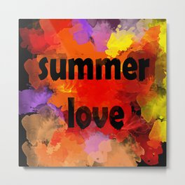 I love summer . Abstraction . The strokes of paint . Metal Print
