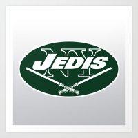 nfl Art Prints featuring New York Jedis - NFL by Steven Klock