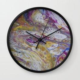 Magenta lava Wall Clock
