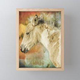 Portrait of a Filly Framed Mini Art Print