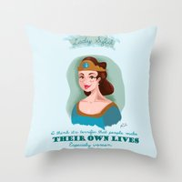downton abbey Throw Pillows featuring Lady Sybil Crawley Downton Abbey by chiclemonade