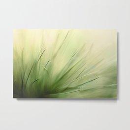 Abstract Pine Needles Metal Print