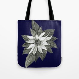 Florida Flower Navy Blue Background Tote Bag
