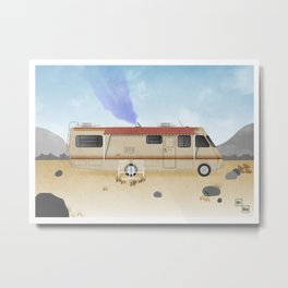 Breaking Bad RV Metal Print