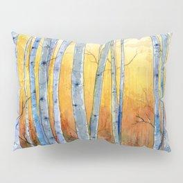 Birch Trees at Sunset Pillow Sham