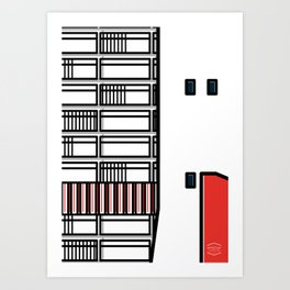 Edificio Residencial Caroata, Catuche y Tajamar Junto al Edificio Tacagua -Detail- Art Print