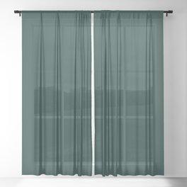 Dark Emerald Green Sheer Curtain