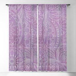 violet ethnic pattern Sheer Curtain