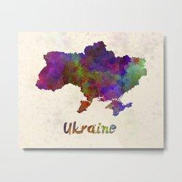 Ukraine in watercolor Metal Print
