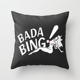 Neon Bada Bing! Throw Pillow