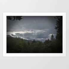 Brewing Storm  Art Print