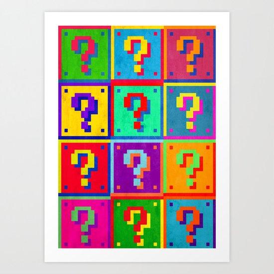 Mario Blocks Art Print