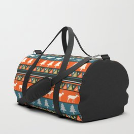 Festive Christmas deer pattern Duffle Bag