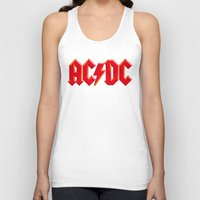 acdc Tank Tops featuring ACDC by loveme