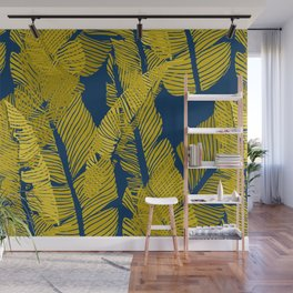 Carved Yellow&Blue Jungle #society6 #decor #buyart Wall Mural