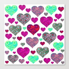Hearts a Float Canvas Print