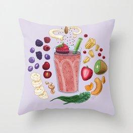 Smoothie Diagram Throw Pillow