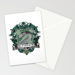 Slytherin Color Crest Stationery Cards