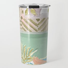 Girl in the bathroom Travel Mug
