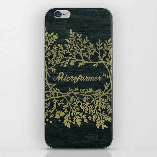 Microfarmer - Gold iPhone Skin
