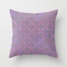 Round Pink Grey Pattern Throw Pillow