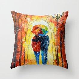 Bright walk Throw Pillow