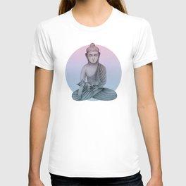 Buddha with cat1 T-shirt