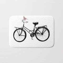 Baker's bicycle with bird Bath Mat